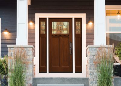 transitional exterior doors