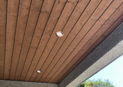 prestained soffit